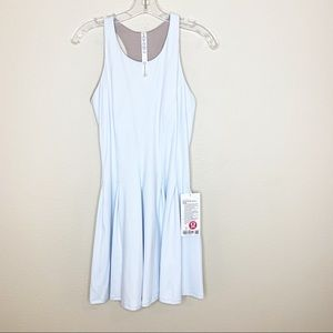 NWT Lululemon Court Crush Tennis Dress Blue Sz 8